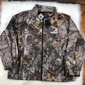 newest collection 0010f 5b667 Dallas Cowboys Men Camo Softshell Realtree Jacket Boutique